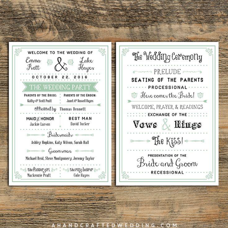 mint-diy-wedding-program-templates-ahandncraftedwedding