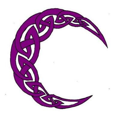 Tatuaggio luna viola decorata - Tatuami cosi