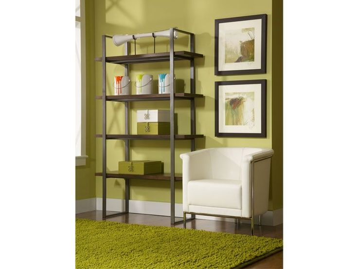 The Conal wall unit is great because of its industrial-inspired style and practical storage solutions.