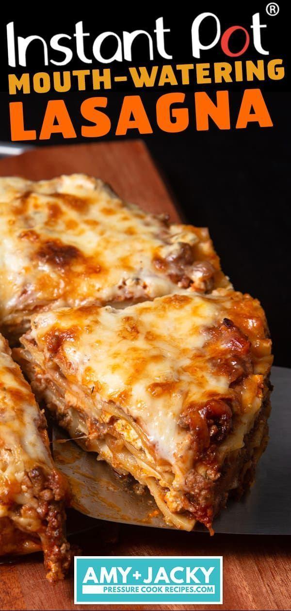 Lasagne Instant Pot … la loro ricetta prevede un ragù di carne a base di manzo, proverò …