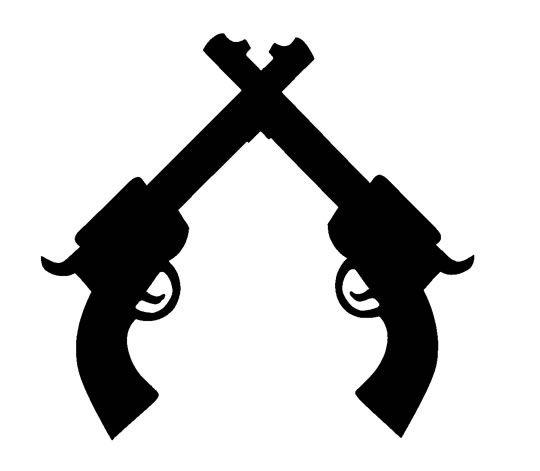 Diy cowboy gun silhouette tattoo ideas pinterest for Cowboy silhouette tattoo