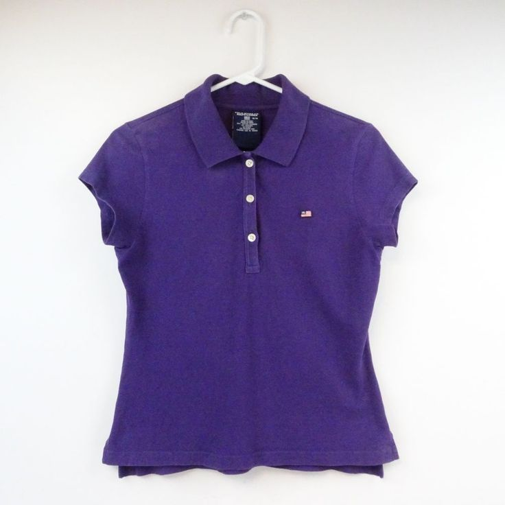 RALPH LAUREN Polo Jeans CO Women's Medium Purple Polo Shirt  #RalphLaurenPoloJeansCO #ShirtsTops