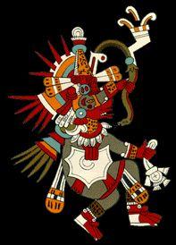 Quetzalcóatl « Le Serpent à plumes » est perçu comme un serpent-oiseau (en nahuatl, quetzal signifie « oiseau » et coatl, « serpent »). Dieu du Vent et de la Végétation, Maître de la Vie, créateur et civilisateur, ou encore patron des Arts, Quetzalcóatl est considéré comme un Dieu bienfaisant.
