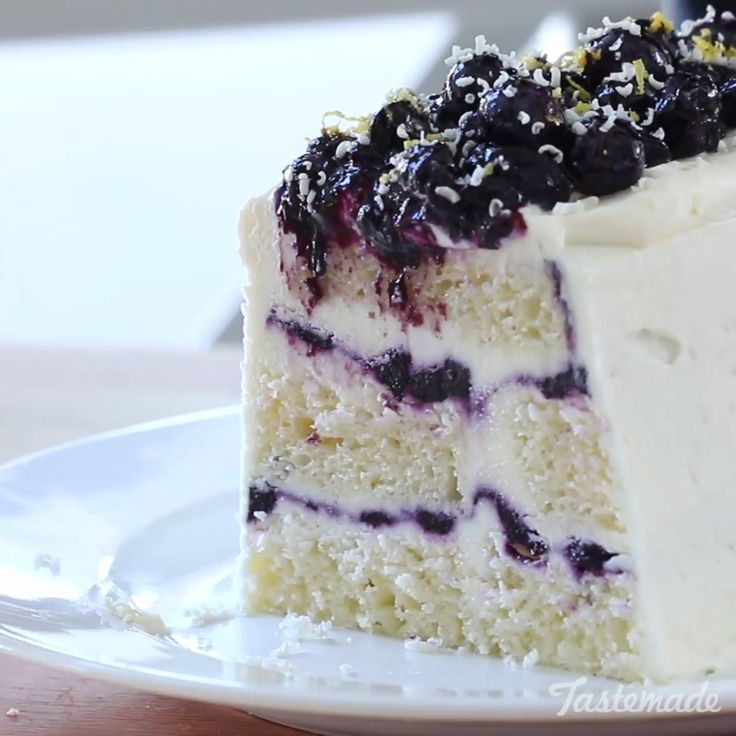 Lemon mascarpone cream and blueberry compote are layered with pound cake to create a beautiful, no-bake dessert!