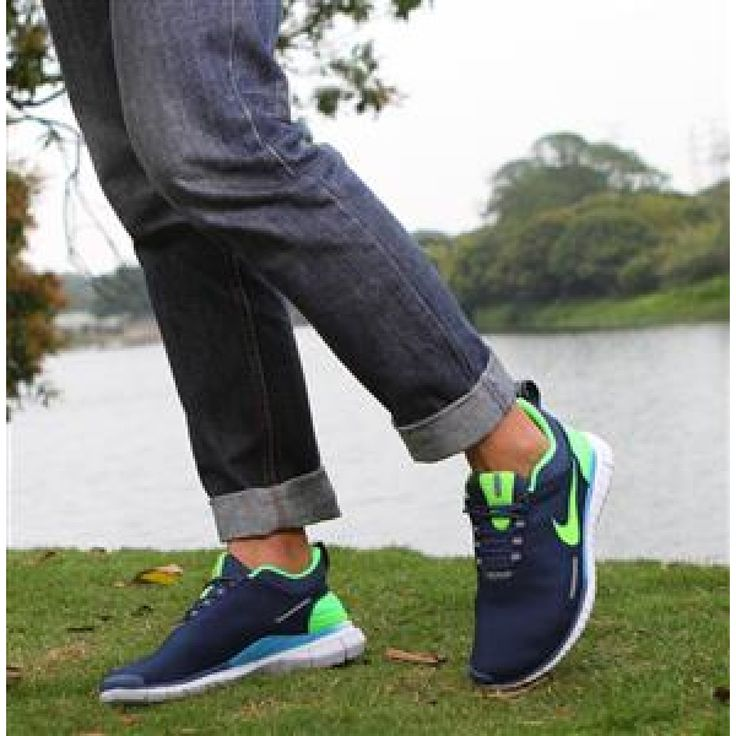 Nike Free OG Breathe Running Shoes Blue Lime - Rs3,400