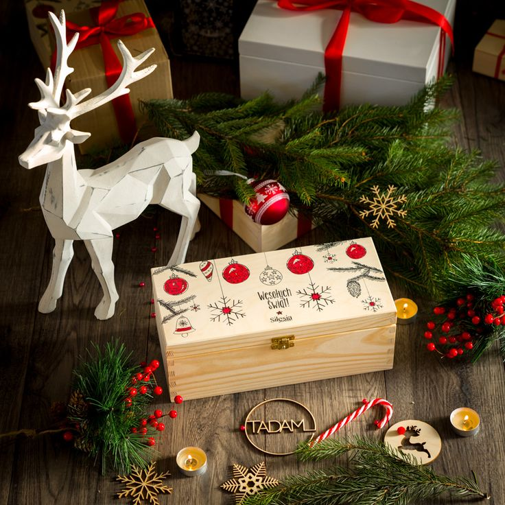 Swiateczne Pudelko Na Prezenty Z Nadrukiem Uv Gift Wrapping Diy And Crafts Gifts