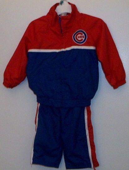 Chicago Cubs Apparel MLB Majestic Windbreaker Jacket & Pants Set Size 18 months
