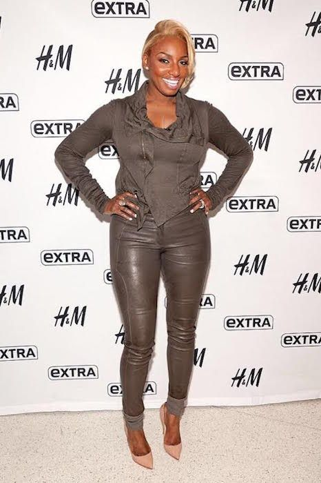 NeNe Leakes at the set of Extra TV and HM Studios in Times Square, New York City...