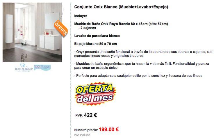 7 mejores imágenes de Todo Bagno en 199 € CONJUNTO DE BAÑO ONIX ...