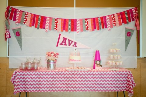 Ava's Cheerleading Birthday Party ~ Dozen Flours