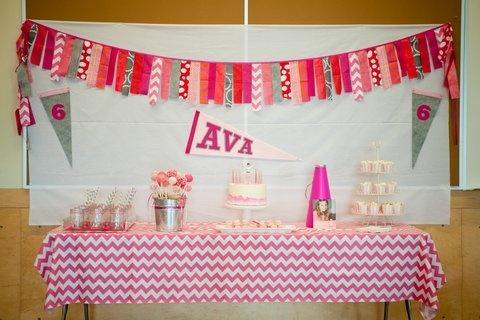 Ava's Cheerleading Birthday Party ~ Dozen Flours