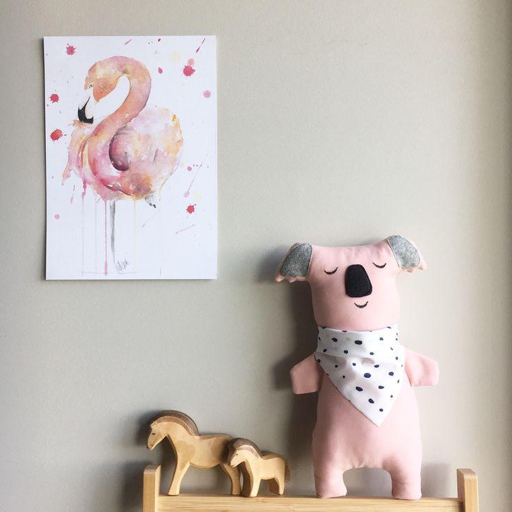 "Koala bear soft toy - CUSTOM koala baby toy - plushie teddy bear - ooak ragdoll koala - modern design toy - handmade in Australia - 30cm/12"" by SilkWithCotton on Etsy"