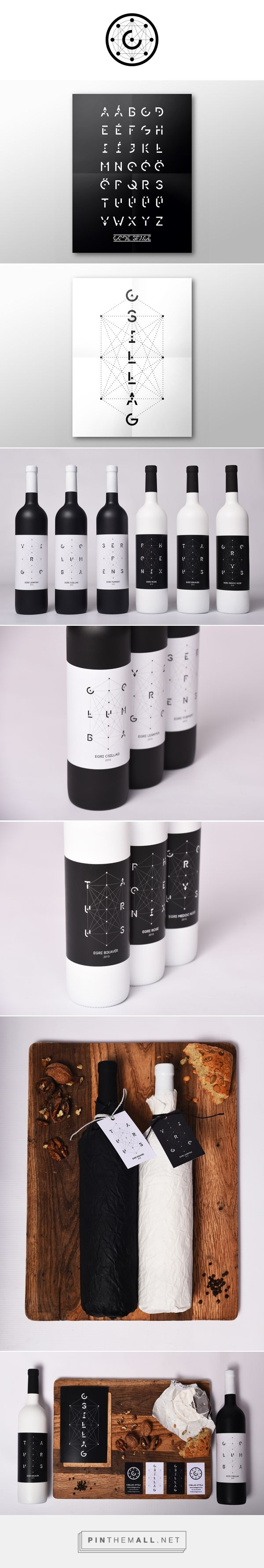 CSILLAG Winery packaging on Behance by Geri Osgyán curated by Packaging Diva PD. School project for an imaginary winery, the Csillag Winery.