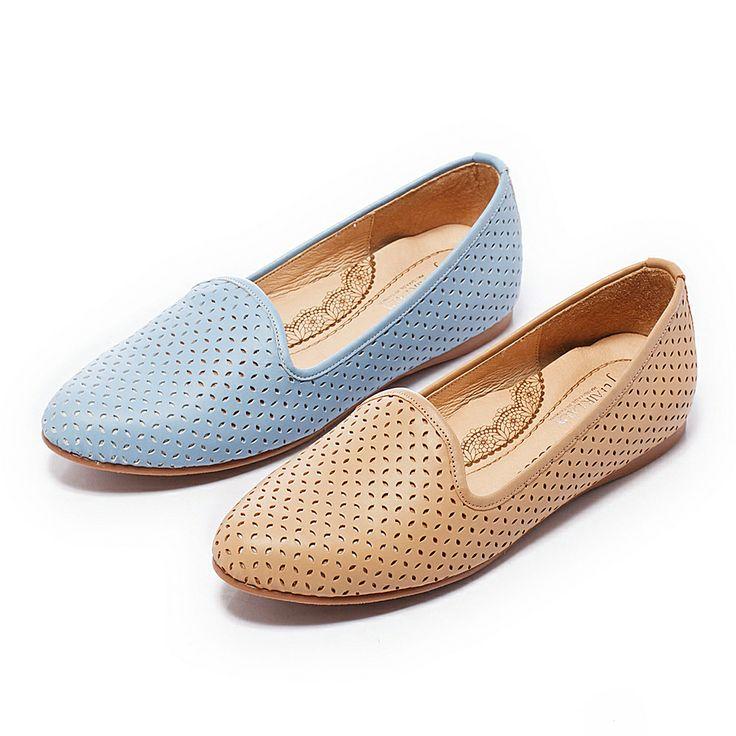 2- 2380 Fair Lady 芯太軟 都會雅痞雕花樂福鞋 藍 - Yahoo!奇摩購物中心