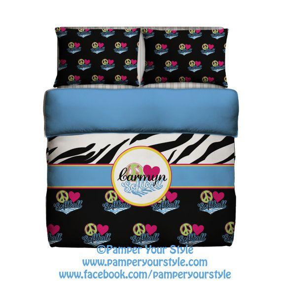 Softball Bedding - Softball Bedroom - Christmas Gift www.pamperyourstyle.com