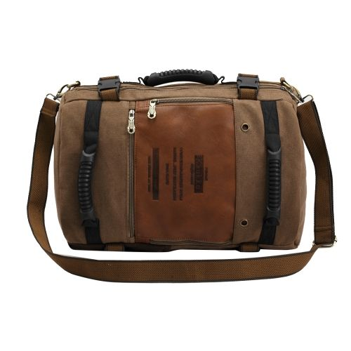 [$24.34] KAUKKO FH09 Fashion Multifunctional Men Canvas Crossbody Bag Hand Bag…