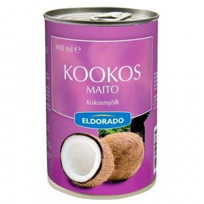 ELDORADO KOOKOSMAITO 400ML  kookosmaito, kaikki merkit