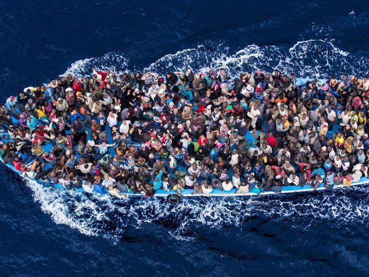 Immigrants in the mediterranean sea
