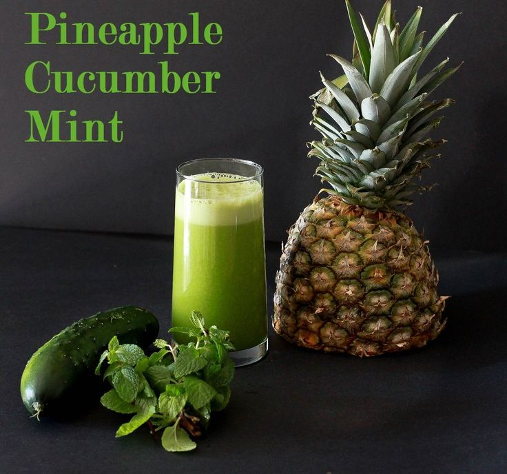 Pineapple, Cucumber, Mint Juice    1/2 ripe pineapple  2 cucumbers  1 bunch of mint    Run all ingredients through juicer (I recommend Breville) and enjoy!
