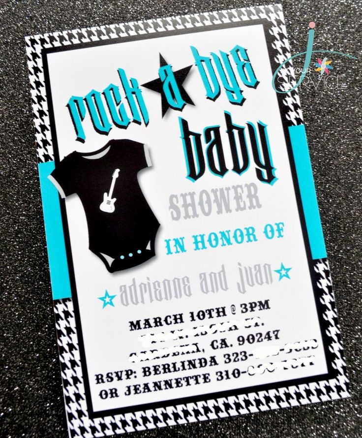 Rock a Bye Baby shower Invitations