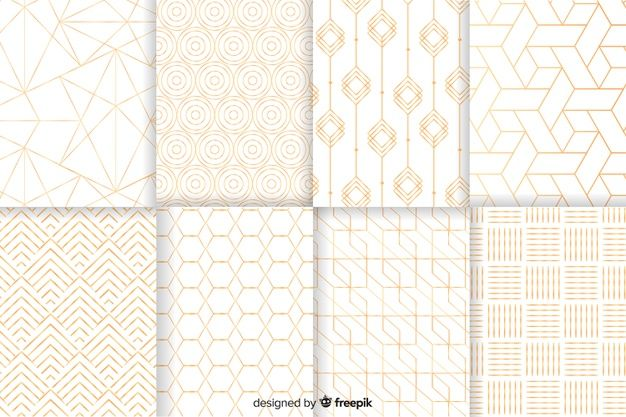 Download Geometric Luxury Pattern Collection For Free Padrao
