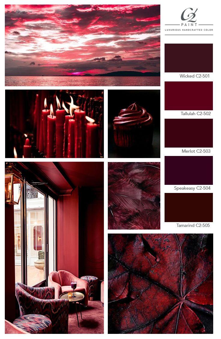 Fall Feature Color Merlot Maroon Color Palette Color Palette