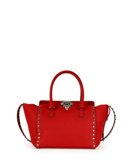 c0f73f381968 Get one of the hottest styles of the season! The Valentino Rockstud Rolling  Small Double-handle Oro Leather Tote is a top 10 member favorite on Tradesy.