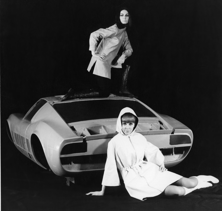 Lamborghini Miura with models, 1965