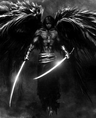 """Warrior----For me; Angel Michael with his """"mighty swords"""" """"Lucifer"""" got too big for his britches and was """"relieved of the Honor of the favorite and most beautiful of God's angels. St. Michael, the Arch-angel of God's army, the leader, the # !, has been fulfilling the commandments of God henceforth, praise his Holy name."""