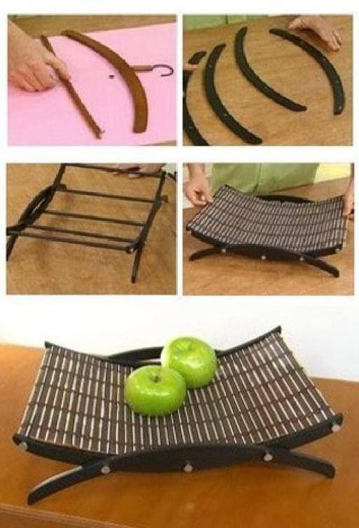 modern looking fruit basket - it would be cool to knit the basket
