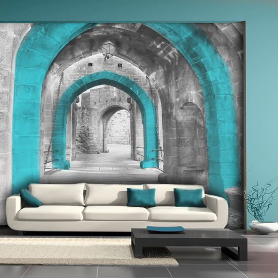 living room photo wallpaper / wall mural #wallpaper #wallmural #photowallpaper #livingroom | Art Decorators