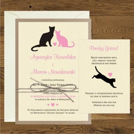 Koty - Różowy i czarny