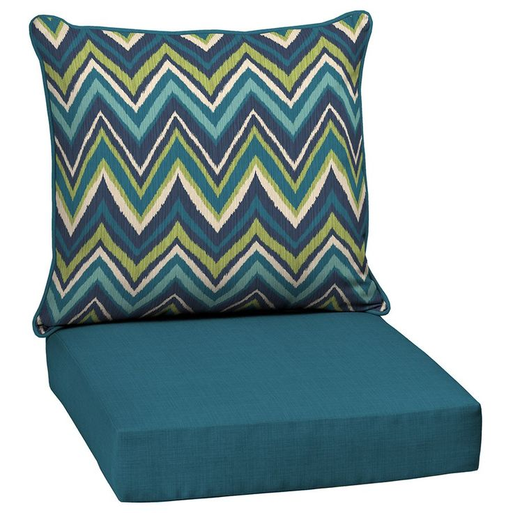 Shop Garden Treasures  Blue Flame Stitch 2-Piece Deep Seating Chair Cushion Set at Lowe's Canada. Find our selection of patio cushions at the lowest price guaranteed with price match + 10% off.