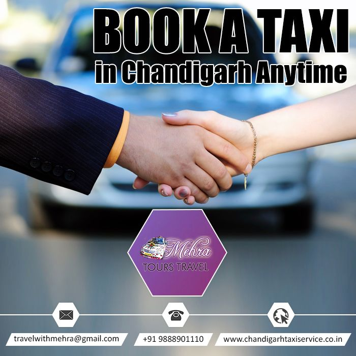 Book a Taxi in Chandigarh Anytime  #Tarveller #Taxi #Travels #Tourist #Chandigarh