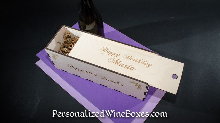 Happy 60th Birthday Maria Birthday Wine Gift Box made by PersonalizedWineBoxes.COM