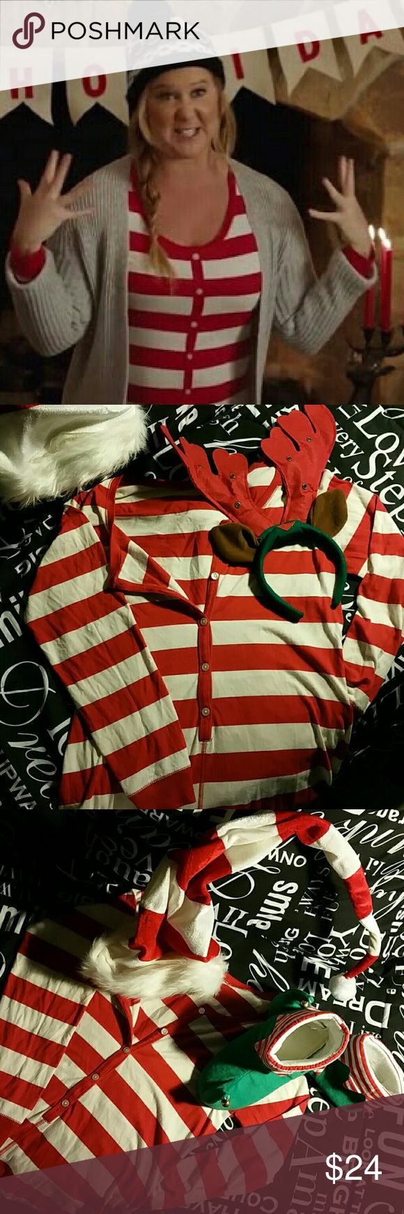 Amy Schumacher advertised stipe Onsie by Old Navy Jumbo striped  adult onesie Old Navy Intimates & Sleepwear Pajamas