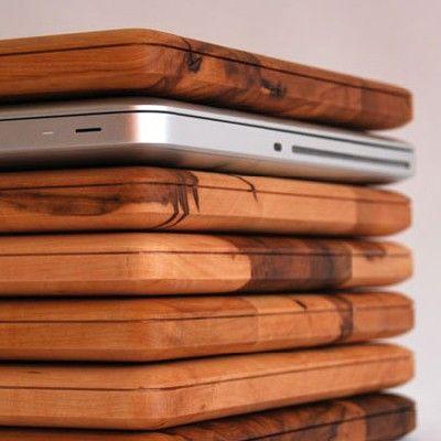 wood mac book covers