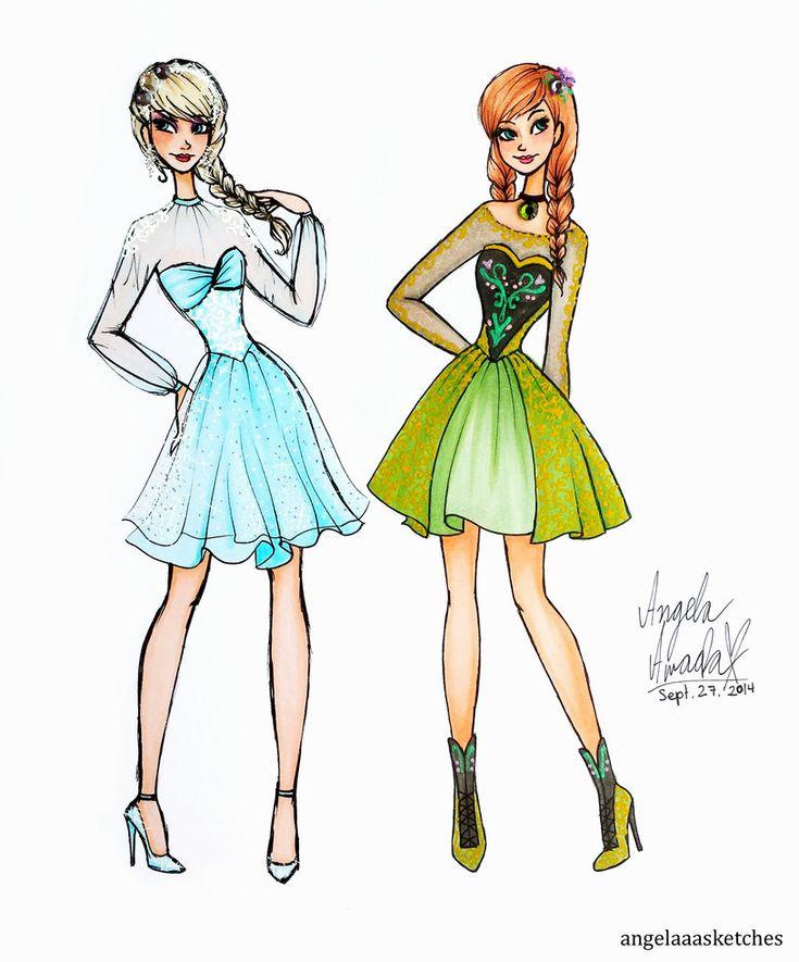 Frozen Fashion by angelaaasketches on deviantART