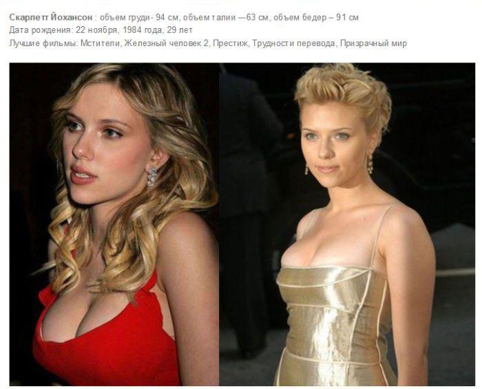 Самые сексуальные девушки Голливуда с внушительным размером груди