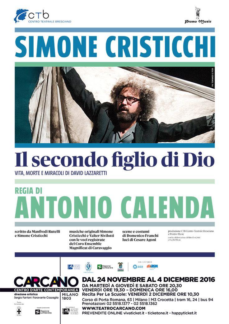 Simone Cristicchi IL SECONDO FIGLIO DI DIO Vita, morte e miracoli di David Lazzaretti
