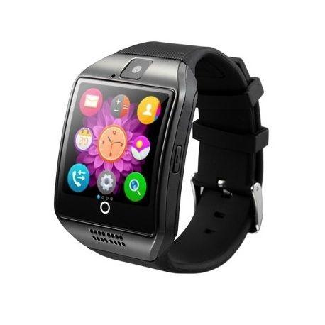 Smart Phone Watch,Q18 smart watch, handsfree bellen, interne Sim kaart, compatible met iphone en android, berichten lezen en verzenden, wekker, agenda, internecamera, mediaspeler, sd opslag, siliconen band