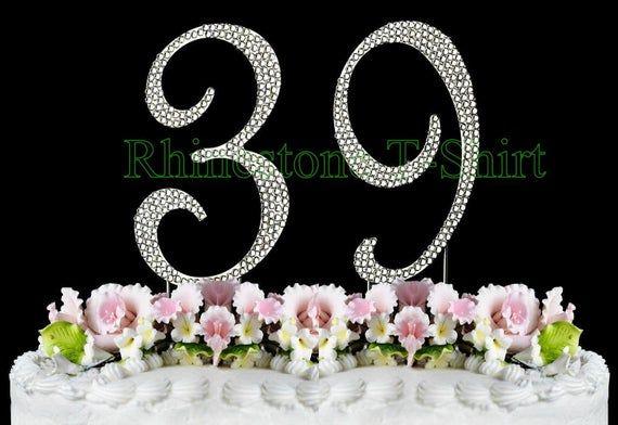 Monogram Cake Topper Rhinestone Crystal Wedding Silver Initial Renaissance Swirl