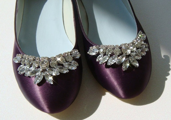 Cinderella / Custom Bridal flats encrusted with rhinestones on Etsy
