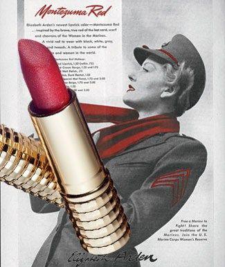 1941 Elizabeth Arden Lipstick Montezuma Red