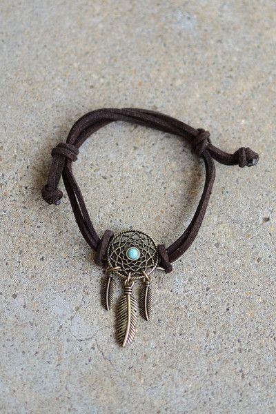 Dreamcatcher Faux Leather Bracelet