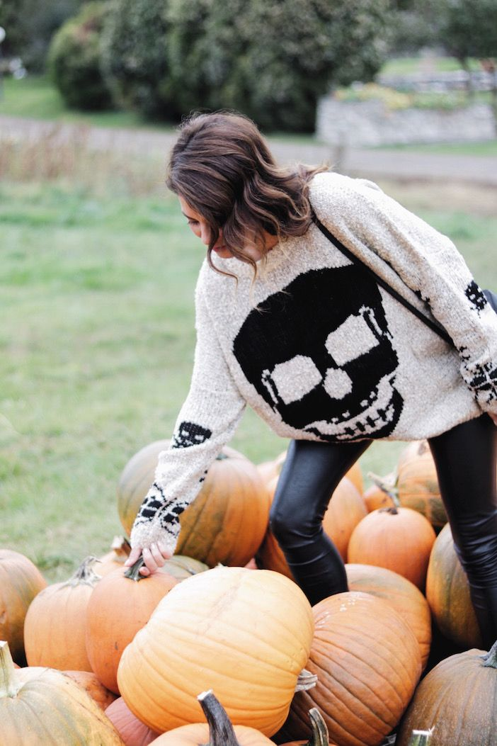 Fall is all about comfy, cozy sweaters … and I LOVE this one for Halloween!!!