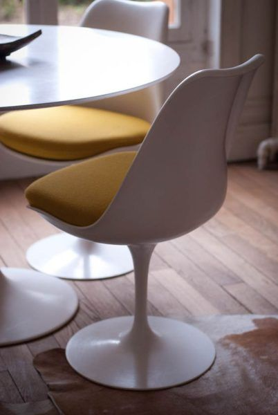 la chaise et la table tulipe de saarinen - tulip chair and table - original design - salon, dining room,