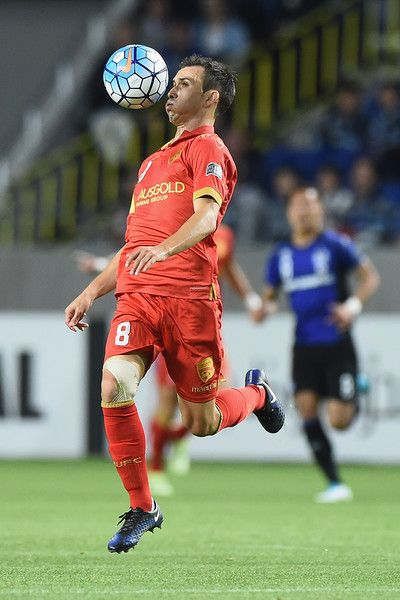 Isaias of Adelaide United competes for the ball during the AFC Champions League Group H match between Gamba Osaka v Adelaide United at Suita City Football Stadium on April 25, 2017 in Suita, Japan.