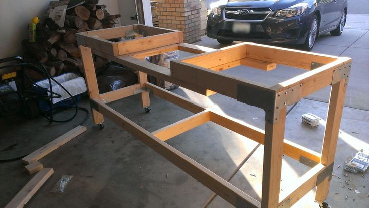 Workbench Build With Miter Saw Station From Imgur Com
