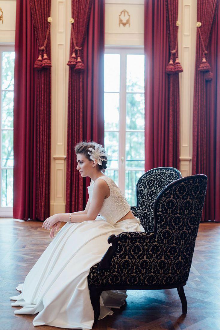 vestido de noiva cropped Solaine Piccoli